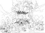 Jungle village for iamversatility by Helliconia