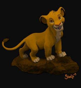 Simba colored version by dark-brain