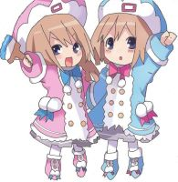Ram+rom chibi colored by Suning