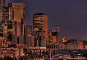 Downtown Seattle HDR2 by CPJPhoto