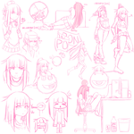 Doodle / Figure Drawing Sketch Dump 9 by calponpon
