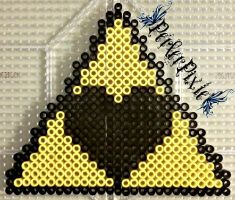 Triforce Love by PerlerPixie