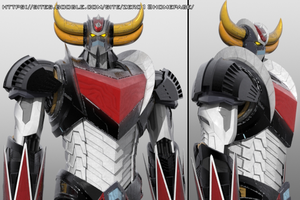 Grendizer  Goldrake 3D model V3 by Zer013