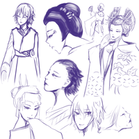 SF: Kabuki Sketches by PandaToffee