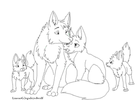 Family lineart by ProtoSykeLegacy