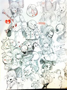 Touhou x Undertale Sketches by KOUWELM