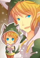 -- Speedpaint : Link with a wolf hoodie -- by Kurama-chan
