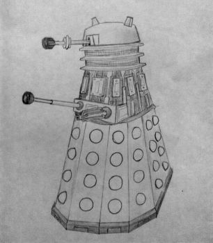 Somewhat inaccurate Dalek sketch by Capital-Asterisk