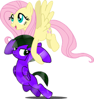 Fluttershy Kidnaps Lightning Rocker[Revised] by LR-Studios