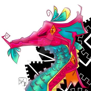 Neon Dragon by Whimsette
