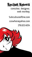 Third front of business card by rachelthegreat