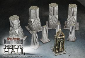 Statues and Pillars Papercraft Models by BraveSirKevin