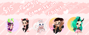 Chibi Commissions!!! by faungi