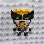 Wolverine Cross Stitch! by MinjiXMuu-chan