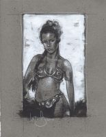 Princess Leia in the Slave outfit by JeffLafferty