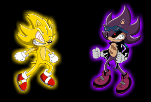 Evil Super Sonic VS Scourge by Metalbru01