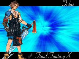 Tidus Wallpaper by Reddragonwings