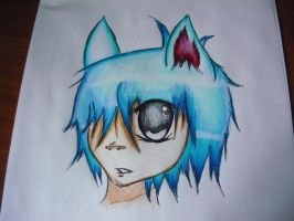 2D Kitty Color Drawing by xtrock007