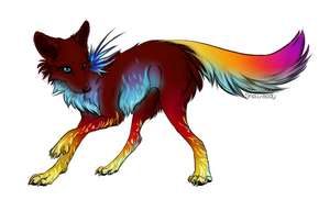 Fire wolf adoptable - CLOSED by Radioactive-Ink