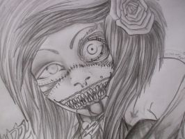 My Epic Zombie Queen (: by ToxicPorcelainClown