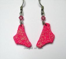 Hot Pink Panties - Pantsu Earrings by StarfallAtDusk