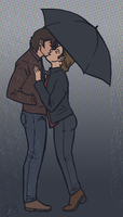 rainy day kisses by piratehatter