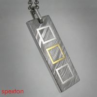 Damascus Squares Pendant by Spexton