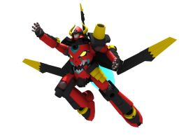 3D Viking Lagann Flying by Ultimatetransfan