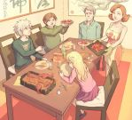 octopus party by Hello-Morphine