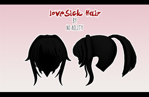 LoveSick Hair [ DL ] 1000 watchers gift pt. 3 by ni-hility