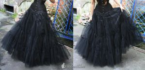 Long tulle gothic skirt like petticoat by DeathlessCorsets