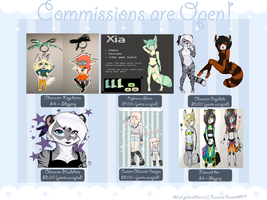 Commissions Flyer 2014 (OPEN!) by Xecax