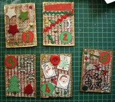 Christmas ATC by Sofairy536