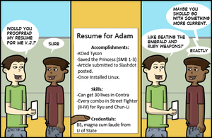 My Resume by AdamShrugged