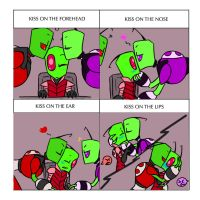 Invader Zim Cute Kisses by yamiyouka