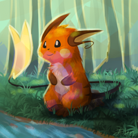 Raichu painting by yassui