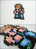 Final Fantasy 6 Sabin bead sprite by 8bitcraft