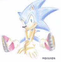 chalk pastel pencils Sonic by 7marichan7