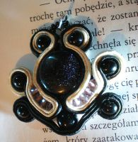soutache kair night pendant by HollyHellstorm