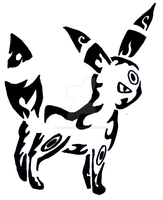 Tribal Umbreon by amandanoelledesign