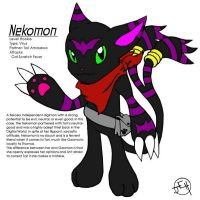DIGIMON fanart - Nekomon by Midniteoil-Burning