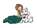 Anna and Peabody by RociDrawings97