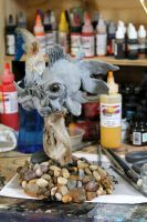 Orcish Goldfish WIP by RavendarkCreations