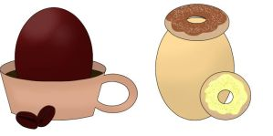 [CLOSED] Coffee and Donut Egg Adopts by J-M-X-P