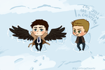 Supernatural: Snow Angels (Where Cas is a cheater) by Tehshi
