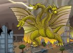 Ghidorah, the three headed monster by hawanja