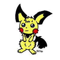Mousy Pichu by Cappies