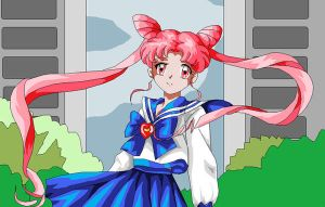 ..::chibiusa XD colored::.. by usagisailormoon20