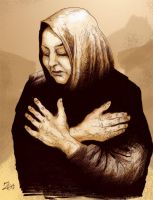 Baghdad Mother by zombieater