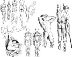 figure study by ByunCaricature